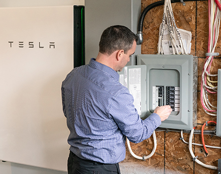Tesla's intelligent feeder battery
