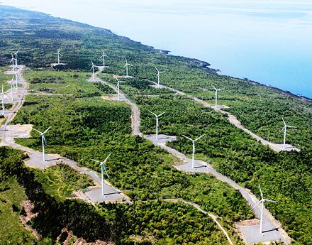 Aerial Shot Of Turbines