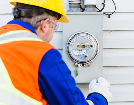 an nsp staff working with smart meters